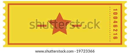 Vector of an admit one ticket - stock vector