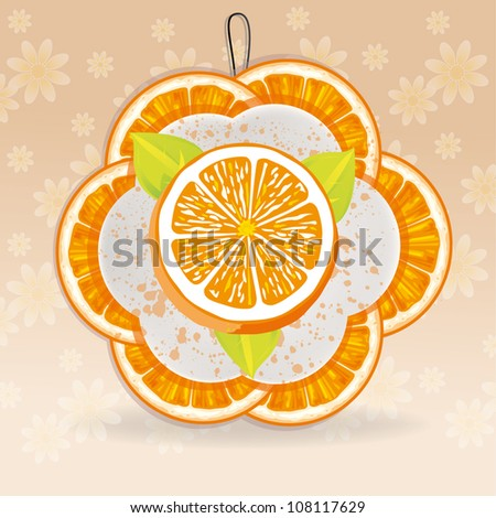 vector of an orange banner - stock vector