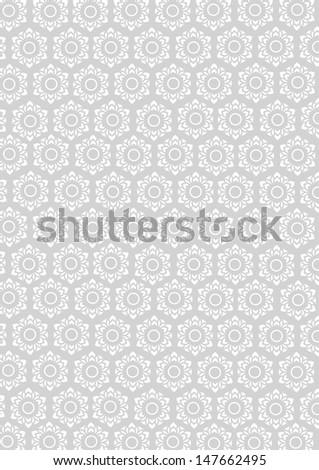 vector of beautiful floral pattern for background / wallpaper - stock vector