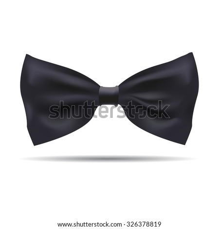 Vector of black silk bow tie on a background. EPS illustration. - stock vector