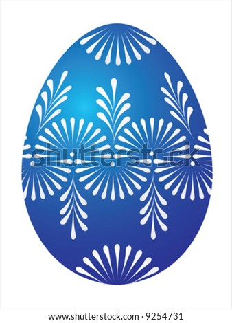 Vector of blue egg on white background