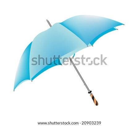 vector of blue umbrella - stock vector