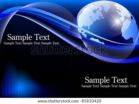 Vector of business card with earth - stock vector
