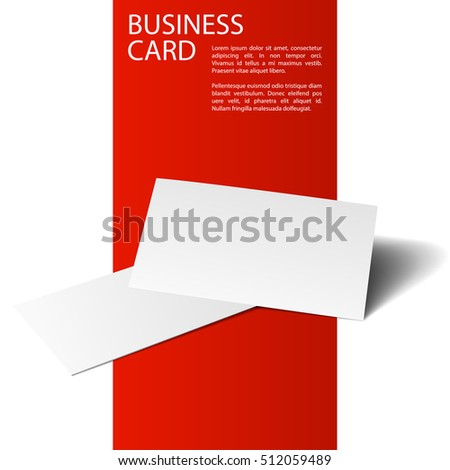 Vector of business cards isolated on red and white background. Template for branding identity. For graphic designers presentations and portfolios. Red Line series.