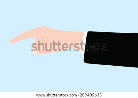 vector of business hand pointing