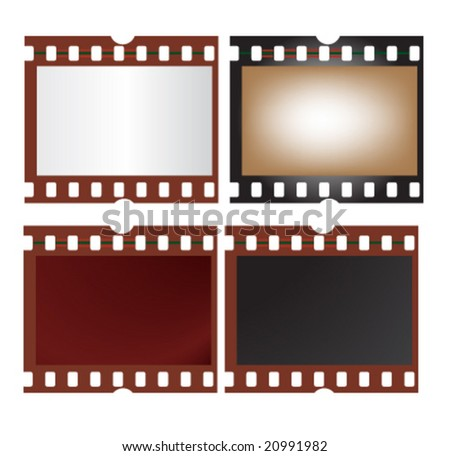 Vector 4 Camera Film Frames Different Stock Vector 20991982 ...
