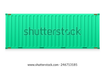 Vector of cargo container for shipping and transportation isolated on white background. - stock vector