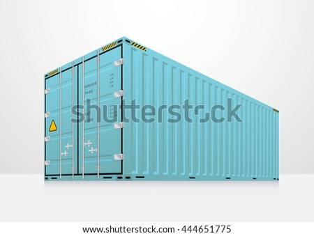 Vector of cargo container or shipping container for logistics and transportation isolated on white background.