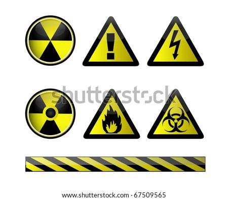 Vector Chemical Hazard Symbols On White Stock Vector 67509565