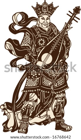 Vector of Chinese Ancient Soldier - stock vector