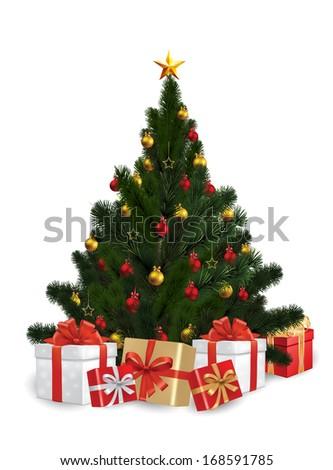 Vector of Christmas Tree - stock vector