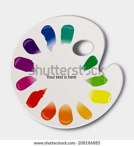 Vector of color palette with color wheel - stock vector
