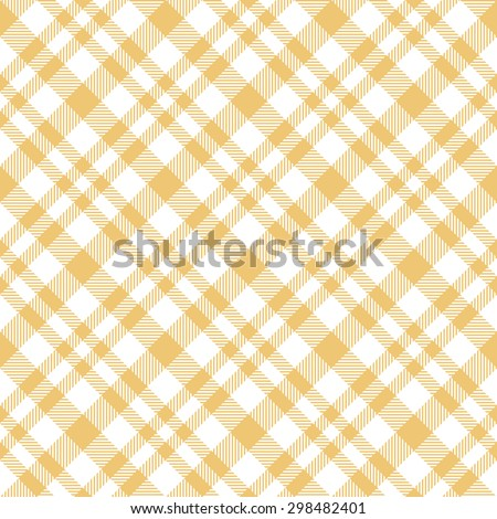 vector of colored checkered seamless table cloth background - stock vector