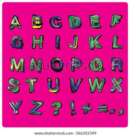 vector of colorful alphabet