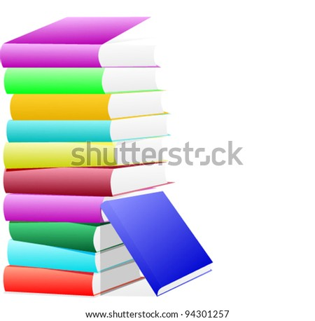 vector of colorful books