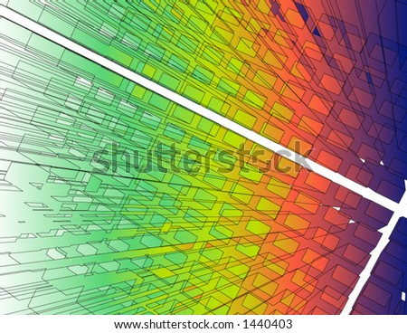 Vector of colorful complex 3D blocks - stock vector