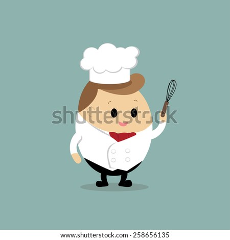 Vector of Cute cartoon chef  - stock vector