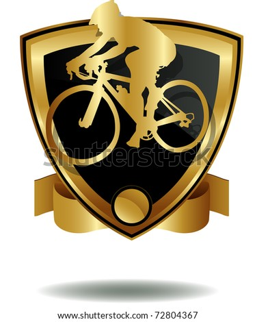 vector of cyclist's shield