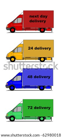 Vector of delivery cars - stock vector