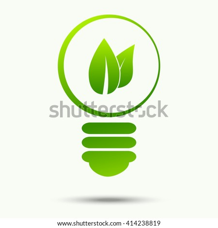 Vector of ecological energy and bulb logo symbol or icon