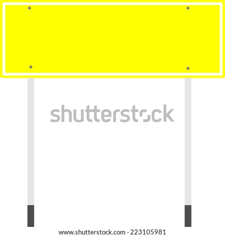 Vector of empty yellow guidepost