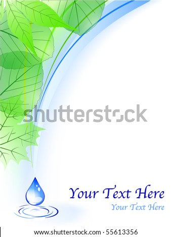 Vector of environmental background with drop - stock vector