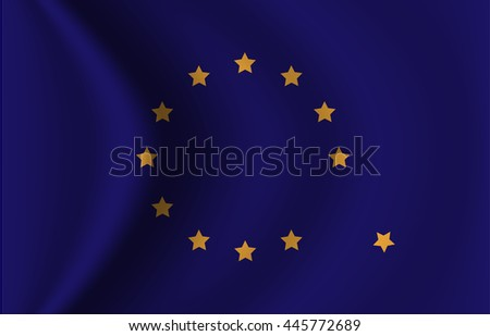 Vector of Euro flag concept for UK brexit