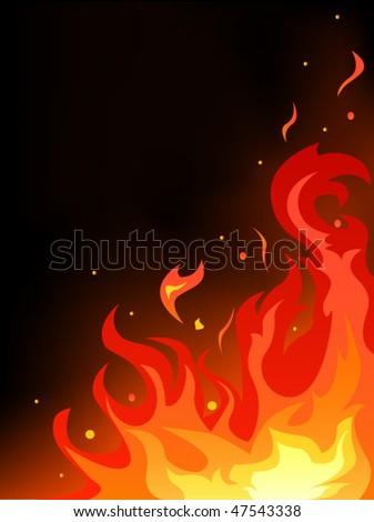 Vector of fire background - stock vector