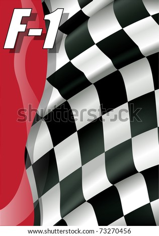 vector of flag of careers of one formulates - stock vector