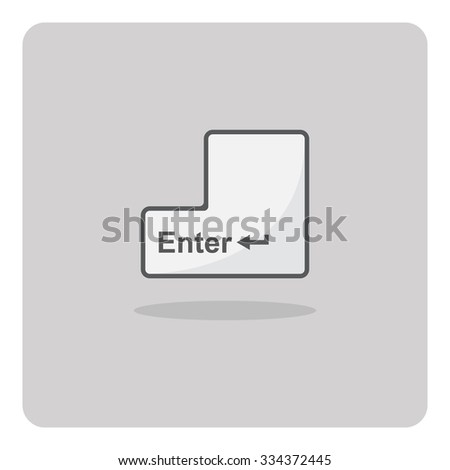 Vector of flat icon, enter button on isolated background - stock vector
