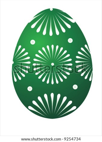 Vector of green egg on white background
