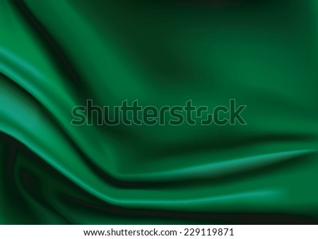 Vector of Green silk fabric abstract background - stock vector