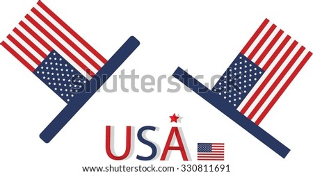 Vector of hat in American flag color
