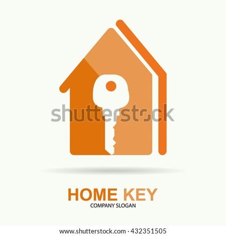 Vector of house logo symbol or icon - stock vector