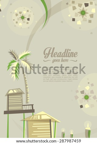 Vector of islamic festival greetings - stock vector