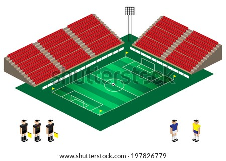 vector of isometric  football stadium EPS10 - stock vector