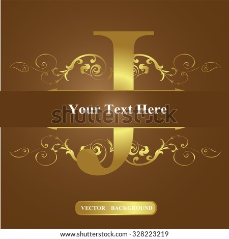 Vector Letter J Old Vintage Style Stock Vector