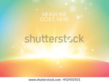 Vector of luminous ray background - stock vector
