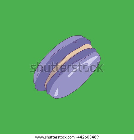 Vector of Macaron. Colored fillings. Pastel colors