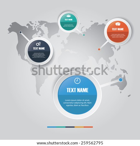 Vector of marketing concept infographic element  .banner, diagram, number options, web design. - stock vector