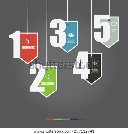 Vector of marketing concept sale tag infographic element  .banner, diagram, number options, web design. - stock vector