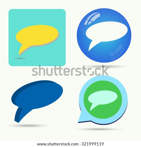 Vector of message symbol or icon