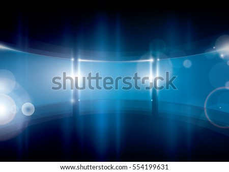 Vector of modern abstract glass frame and background