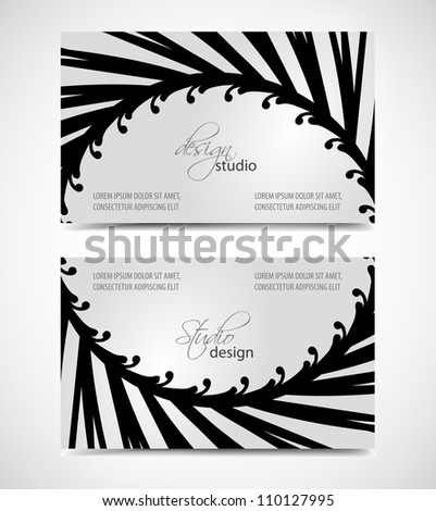 Vector of modern artistic business card templates - stock vector