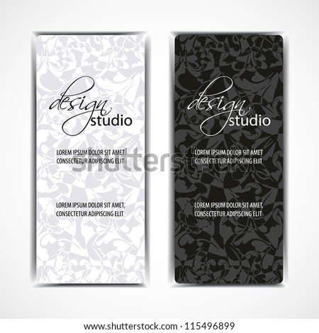 Vector of modern artistic business card templates - stock vector