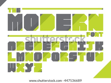 Vector of modern stylized font and alphabet - stock vector