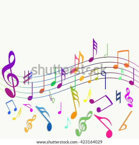 Vector of music symbol or icon - stock vector