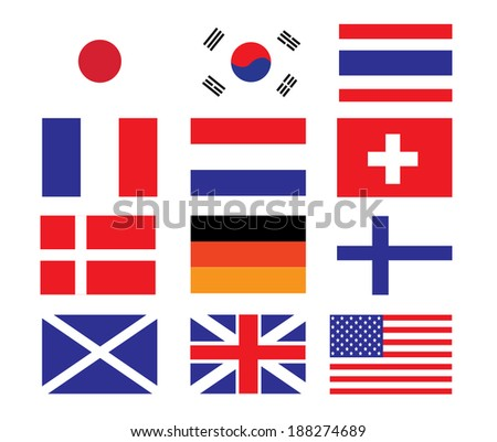 Vector of National Flag - stock vector