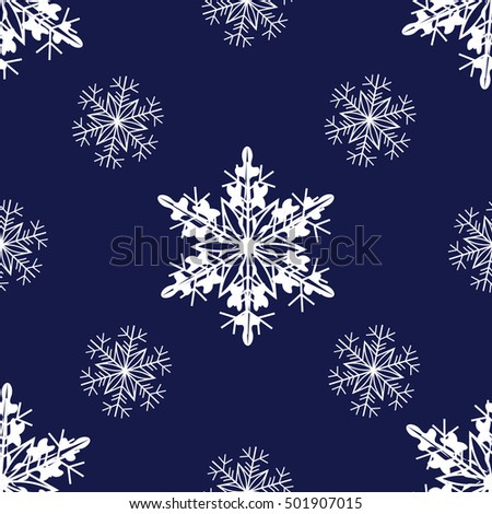 vector of new year seamless pattern with snowflakes