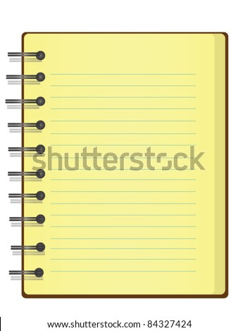 Vector of Notebook